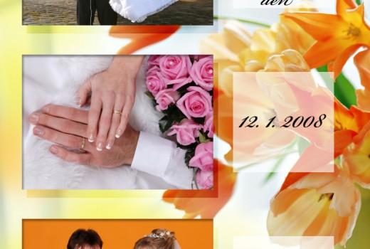 svatební album / úvodní stránka